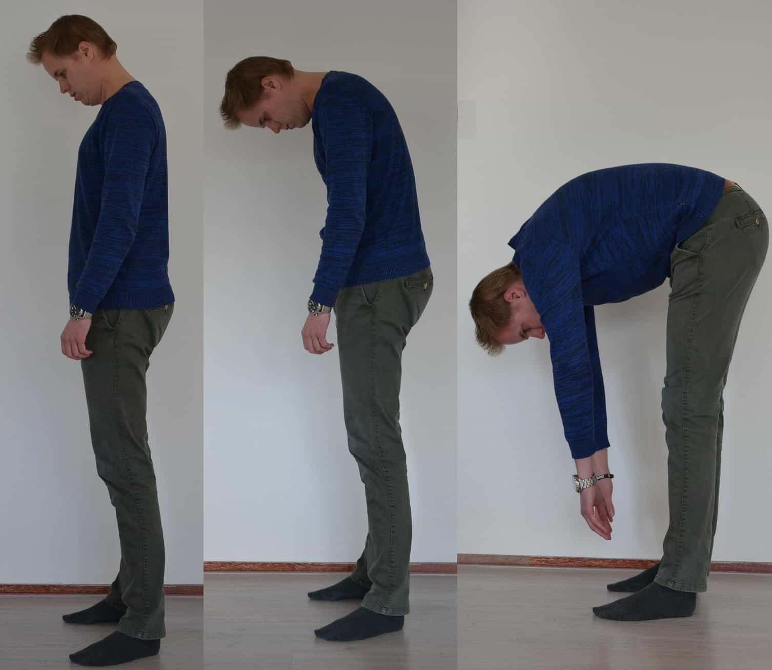back pain bending forward